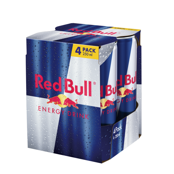 Red Bull Energy Drink (4 Dosen/Tray) 250 ml